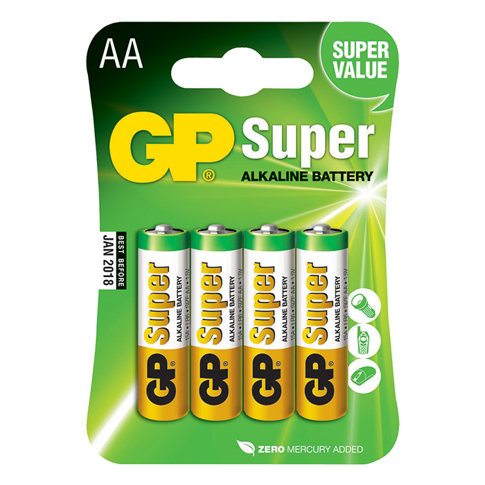 Батарейки GP Super Alkaline AA