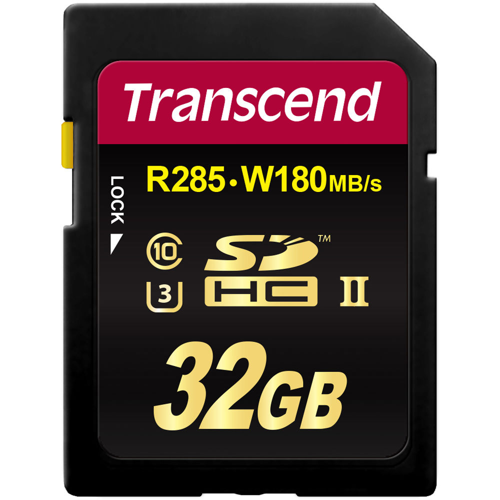 Карта памяти Transcend 32GB SDHC UHS-II U3 Ultimate (180/285MB/s)