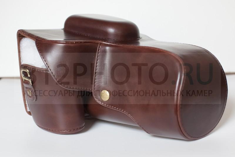 New classical fashional genuine leather half body set camera case cover for canon g7x / g7xmark ii camera black